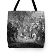 Tiger Hunt, 19th Century Tote Bag