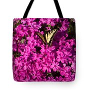 Tiger In The Phlox 5 Tote Bag