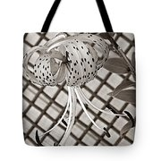 Tiger Lily And Rusty Gate Tote Bag
