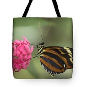 Tiger Longwing On Flower Tote Bag
