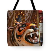 Tiger Merry Go Round Animal Tote Bag