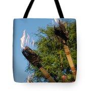 Tiki Torch Tote Bag