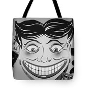 Tillie The Clown Of Coney Island In Black And White Tote Bag