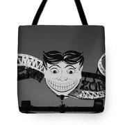 Tillie's Scream Zone In Black And White Tote Bag