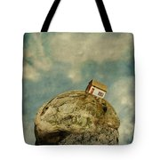 Tilted House Tote Bag