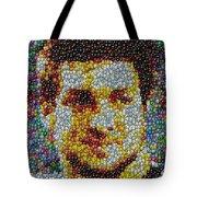 Tim Tebow Mms Mosaic Tote Bag by Paul Van Scott