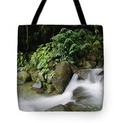 Time Exposure Of A Little Brook Flowing Tote Bag