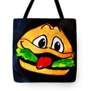 Time For A Happy Burger Tote Bag