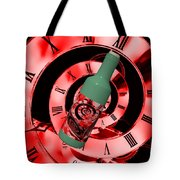 Time In A Bottle Red Tote Bag