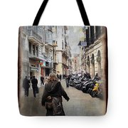 Time Warp In Malaga Tote Bag