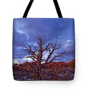 Timed Exposure Of Sunset Clouds Tote Bag
