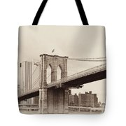 Timeless-brooklyn Bridge Tote Bag