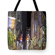 Times Square Abstract Tote Bag
