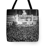 Times Square Election Crowds Tote Bag