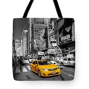 Times Square Taxi  Tote Bag
