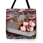 Tin Of Eyes Tote Bag