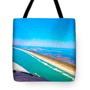 Tiny Airplane Big View II Tote Bag