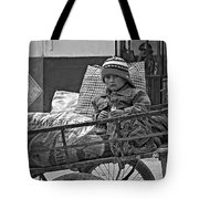 Tiny Biker 2 Monochrome Tote Bag