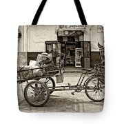 Tiny Biker Sepia Tote Bag