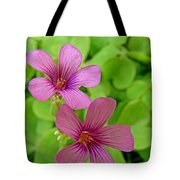 Tiny Flowers In The Clover Tote Bag