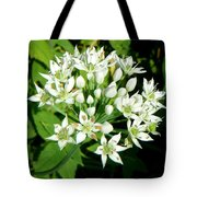 Tiny White Flowers Tote Bag