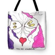 Tis My Valentine Tote Bag