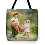 To Market To Buy A Fat Pig Tote Bag by Edwin Thomas Roberts