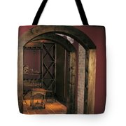 To The Wine Cellar Tote Bag by Renee Trenholm