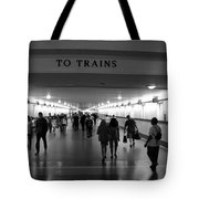 To Trains Tote Bag