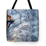 Todd Skinner Climbing A Rock Face Tote Bag