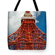 Tokyo Tower Face Cloudy Sky Tote Bag