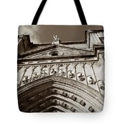 Toledo Cathedral Entrance In Sepia Tote Bag