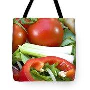 Tomato Salad Close Up Tote Bag