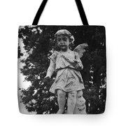 Tombstone Angel Bw Tote Bag