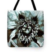 Toned Floral Print Tote Bag
