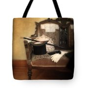 Top Hat And Cane On Sofa Tote Bag