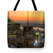 Top Of The Rock Twilight Ix Tote Bag by Clarence Holmes