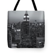 Top Of The Rock Twilight Vi Tote Bag