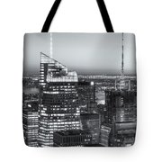 Top Of The Rock Twilight Vii Tote Bag