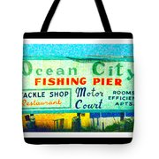 Topsail Island Old Sign Tote Bag