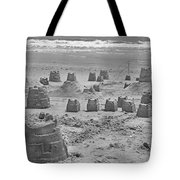 Topsail Island Sandcastle Tote Bag