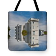 Topsail Island Tower Reflection Tote Bag