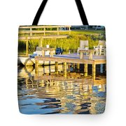 Topsail Sound At Sunset Tote Bag