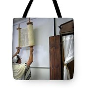 Torah Being Lifted Up Tote Bag