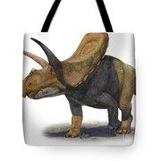 Torosaurus Latus, A Prehistoric Era Tote Bag