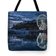 Torquay Marina And The Big Wheel Tote Bag