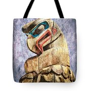 Totem Pole In The Pacific Northwest Tote Bag