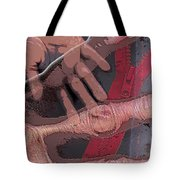 Touch And Red Zipper Tote Bag