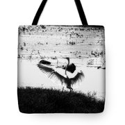 Touchdown-black And White Tote Bag