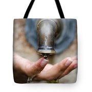 Touching The Water Tote Bag